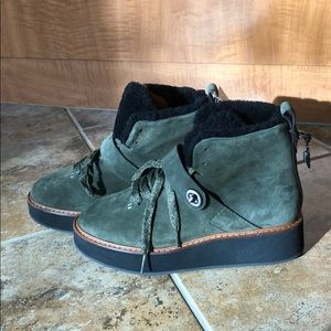 Coach Shoes - NEW Coach G1354 Green Boots- Genuine Leather/suede